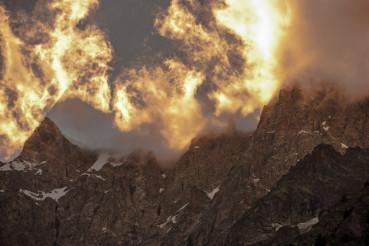 Scenic Alpine Sunset