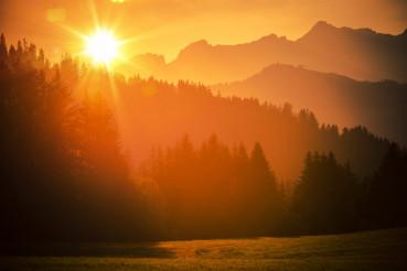 Scenic Alps Sunset
