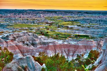 Scenic Badlands Landscape