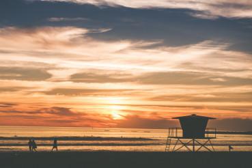 Scenic Beach Sunset
