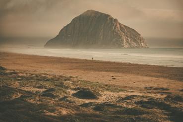 Scenic California Morro Rock in the Morro Bay, California, USA