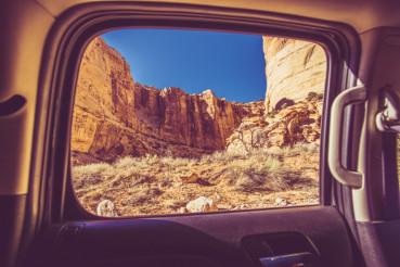 Scenic Car Window View