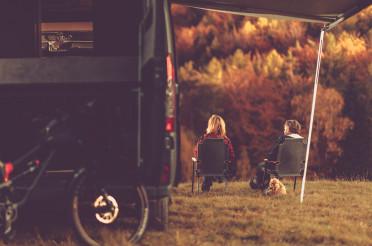Scenic Fall Foliage RV Camper Camping