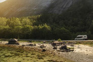 Scenic Fjords Route Camper Van Drive