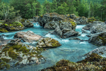 Scenic Glacial Rocky River