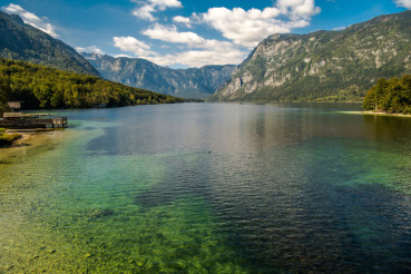 Scenic Lake Bohinj Slovenia