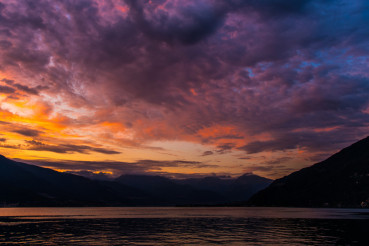 Scenic Lake Como Sunset