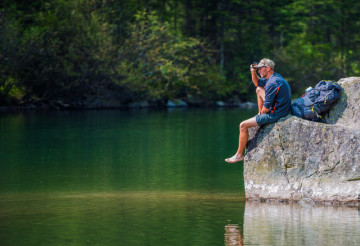 Scenic Lake Trail Hiker