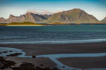 Scenic Lofoten Archipelago Beach in the Norway