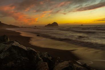 Scenic Northern California Redwood Coast Beach Sunset