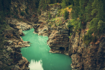 Scenic Norwegian Canyon