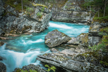 Scenic Norwegian Glacial River