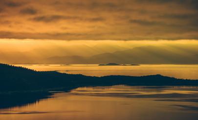 Scenic Norwegian Nordland Midnight Sun Landscape
