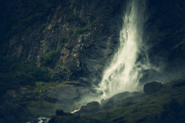 Scenic Norwegian Waterfall