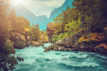 Scenic Pristine Alpine River