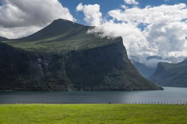 Scenic Romsdal Fjord Landscape Norway