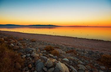 Scenic Salton Sea Sunset