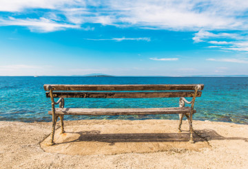 Scenic Sea Front Bench