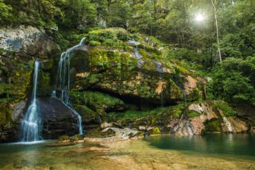 Scenic Slovenia Virje Waterfall