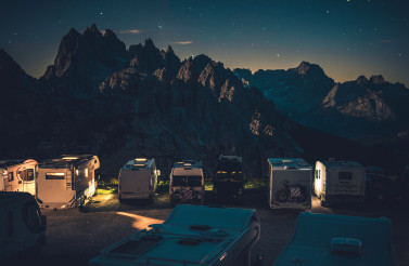 Scenic Starry Sky RV Park Camping in the Dolomites