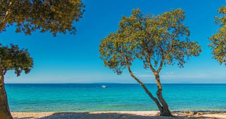 Scenic Sunny Croatian Sea Front