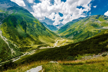 Scenic Swiss Alps Mountains