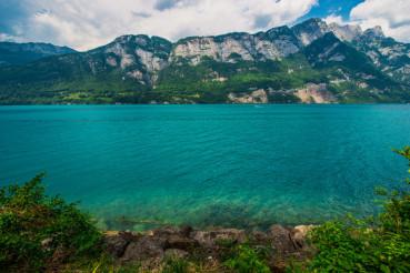 Scenic Swiss Lake Brienz