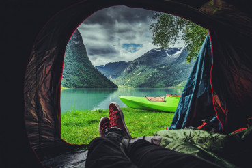 Scenic Tent Spot in Norway