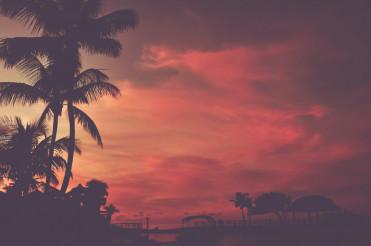 Scenic Tropical Beach Sunset