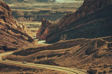 Scenic Utah Interstate 70 Highway