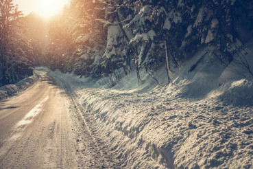 Scenic Winter Highway
