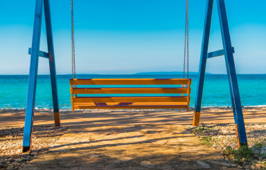 Sea Front Swinging Bench
