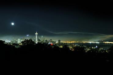 Seattle at Night Panorama