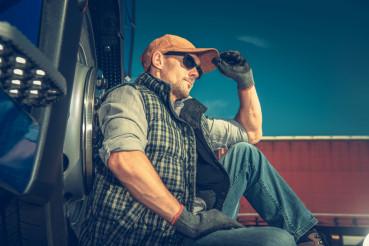 Semi Truck Driver Break
