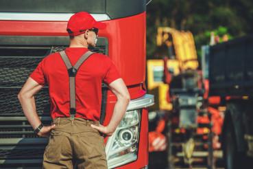 Semi Truck Driver in His 30s