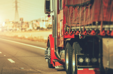 Semi Truck on Nevada Highway