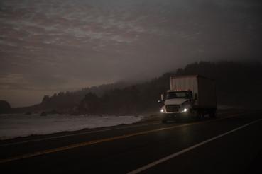 Semi Truck on the California 101 Coastal Highway