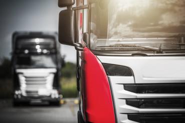Semi Trucks on Route to Final Delivery Destination