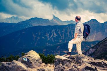 Senior Hiker on the Summit
