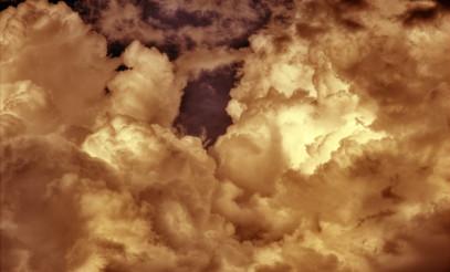 Sepia Stormy Sky