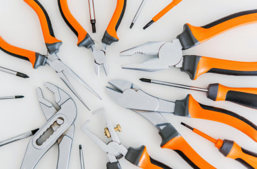 Set of Tools on White
