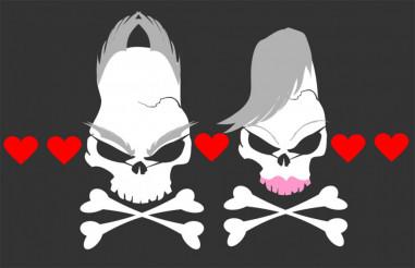 Sex Skulls Vector