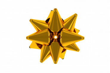Shiny Golden Bow Isolated Graphic