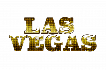 Shiny Golden Las Vegas Word PNG Isolated Illustration