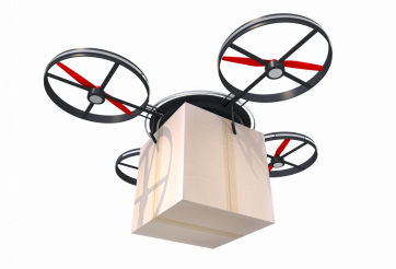 Shipping Drone PNG