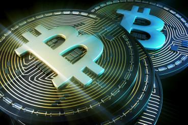 Silver Bitcoin Concept Coins