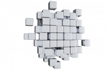 Silver Cubes PNG Graphic