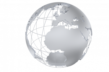 Silver Metal Globe