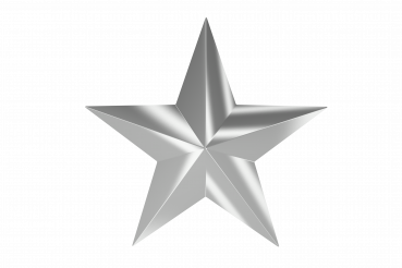 Silver Star PNG Isolated Graphic