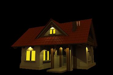 Single Family Modern House PNG Illustration